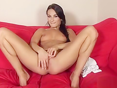 Horny Czech Girl Spreads Her Narrow Slit To The Special