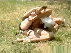 Horny Milf Having Fun With Her Boy In Nature