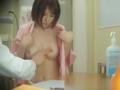 Sexy Oriental Babe Breast Checked By Doc