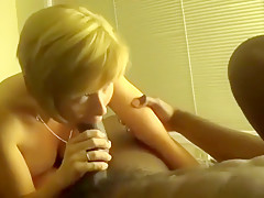 Cute Slut Sucking Big Black Cock.