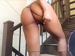 MASSIVE PUBLIC SQUIRTING: TAKE THE STAIRS 4