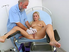 Hairy pussy closeups and real gyno exam. During the physical exam, the gyne