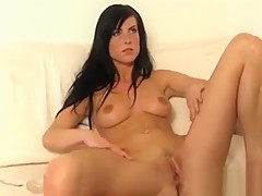 Captivating Beauty Is Pounding Her Twat With Hard Dildo