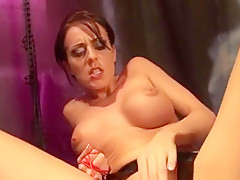 Milf Lady Jones In Latex Enjoys Hot Masturbation