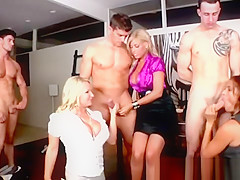 Milfs judging and measuring guys cock