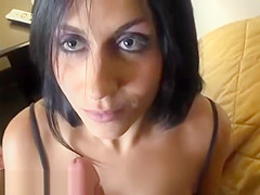 Brunette Blowjob Needs A Ride
