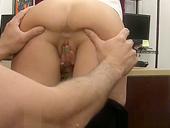 Pawnshop punk pussy pounded in the office