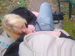 Real teen fucked outdoors and jizzed on tits