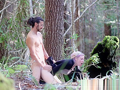 Couple Caught Cumming Twice in the Forest