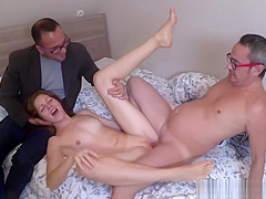Cuckold loves to share his girl