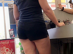 Checkin Out Those Cheeks (VPL, Short Shorts)