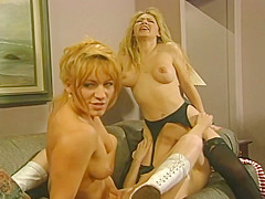 Three Smoking Hot Blondes In One Steamy Lesbian Action