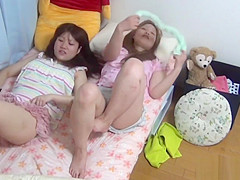 Japanese teen rubbing