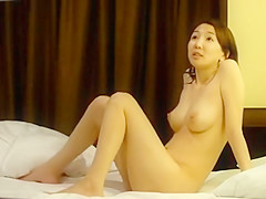 Scandal of sexy Japanese model in a hotel room