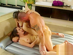 Beauties Abella and Melissa gets fucked