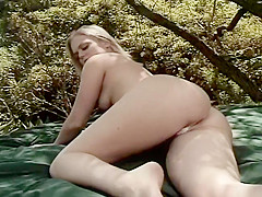 Blonde Tries Some Cock While Outdoors