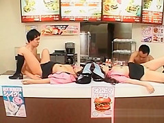 Fast Food Japanese Sluts Banged Hard At Work
