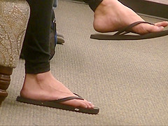 Sexy brunette's exotic feet