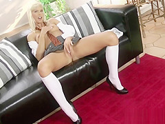 Young Blonde In White Shirt Has Hot Passionate Sex