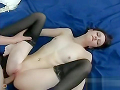 Small Tit Redhead Gets Bald Pussy Fucked