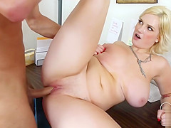 Big Busty Blonde Bbw Siri Gets Fucked Good
