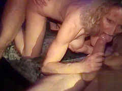 3 Lesbians in shop with strapon - amateur compilation