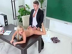 Lovely schoolgirl is seduced and drilled by her senior teache