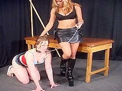 Two Ladies Play Around When They Tie Each Other Up