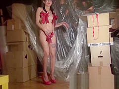 Krakenhot - Casting with young brunette girl. Part 1