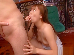 Lascivious Asian blowjob