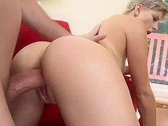 Cumshot On Mickey Blue - Super Cute Pixie With Gorgeous Ass
