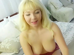 Blonde stepsister Velvet Rain fucked in POV by a big cock