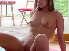 norwegian LETSDOEIT - Yoga Session Turns Hardcore With This Hot Babe