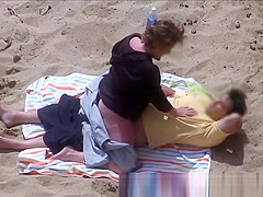 Horny Couple Greek Beach Voyeur