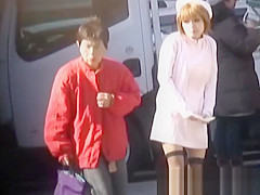 Japanese teens in costume recorded by fetishist
