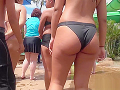 Thick Latina Booty Bikini Close-Up Voyeur Spycam