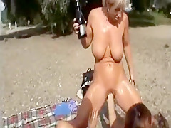 Hottest homemade Outdoor, Big Tits sex video