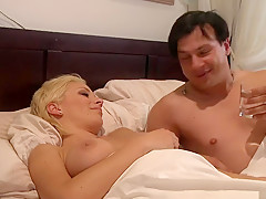 Crazy pornstars April O'Neil and Kagney Linn Karter in exotic blowjob, brunette porn scene