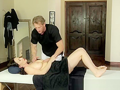 MILF gets seduced and groped during massage