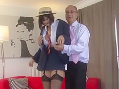 Hot-tempered floosy Paige gets pounded