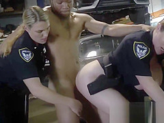 Blonde cop went to the mechanic to get fucked by a big black cock. Visit us
