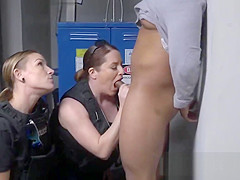 Horny big breasted cops love getting their pussy slammed