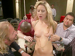 Twenty years old blonde public disgraced