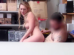 Shoplifters hot pussy screwed on top of the LP Officers huge man meat!
