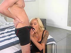 Hot MILF Nina Catches Her Son In Law Spying