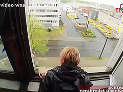 German Blonde Is Sucking And Riding Her Lovers Dick In Various Places, All Day Long