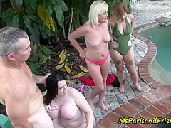Everybody Cums At This Hot Tub Party With Ms Paris Rose