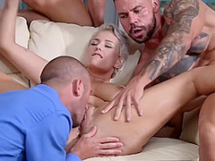Angel Wicky In Three Dicks Giving Dp Treat To Busty Blonde Milf Angel