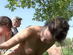Two Lesbians Get Caught Shagging In The Garden