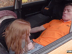 British ginger publicly rides driving instructor after bj